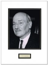 Clement Attlee Autograph Signed Display